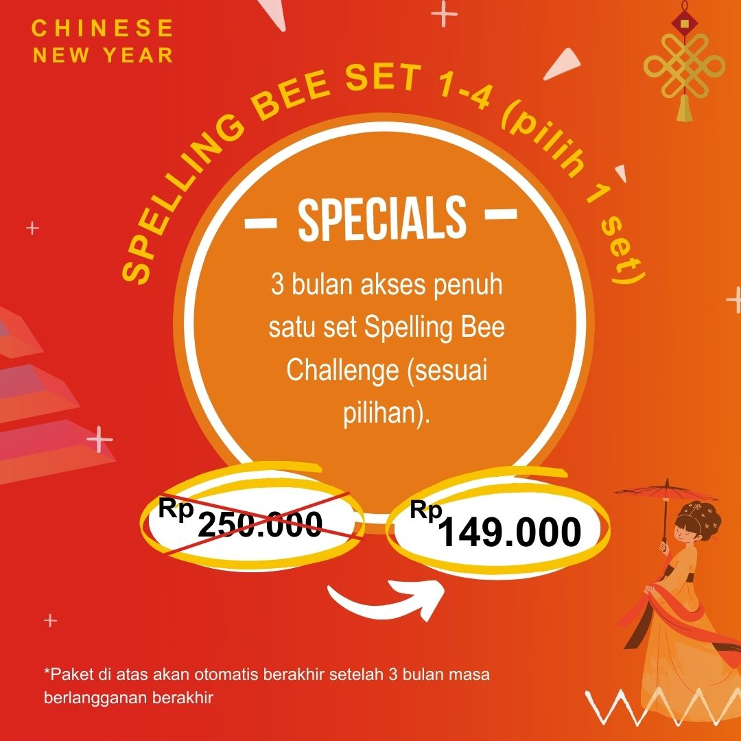 Spelling Bee – CNY Promotion