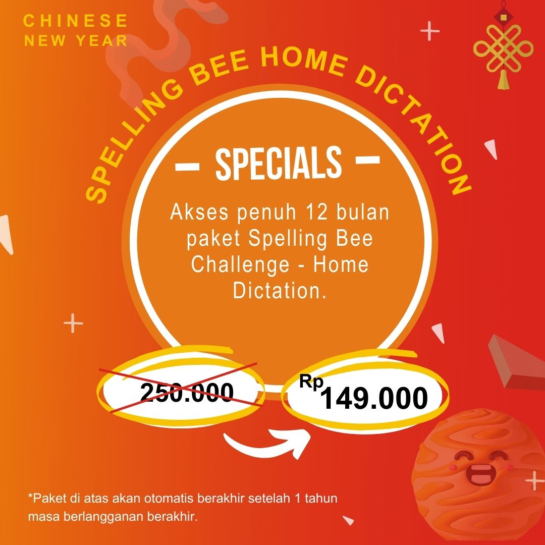 Spelling Bee Home Dictation – CNY Promotion